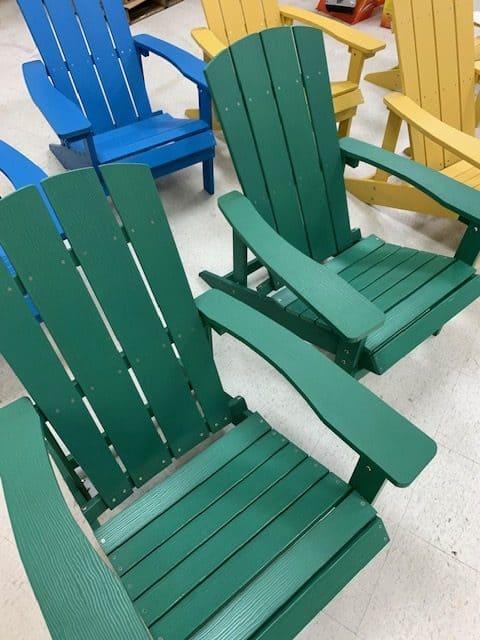 Adirondack wood faux chairs